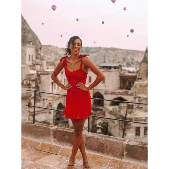 Reformation Christine Dress || Lipstick (red) || Size 6 || NEW NWT